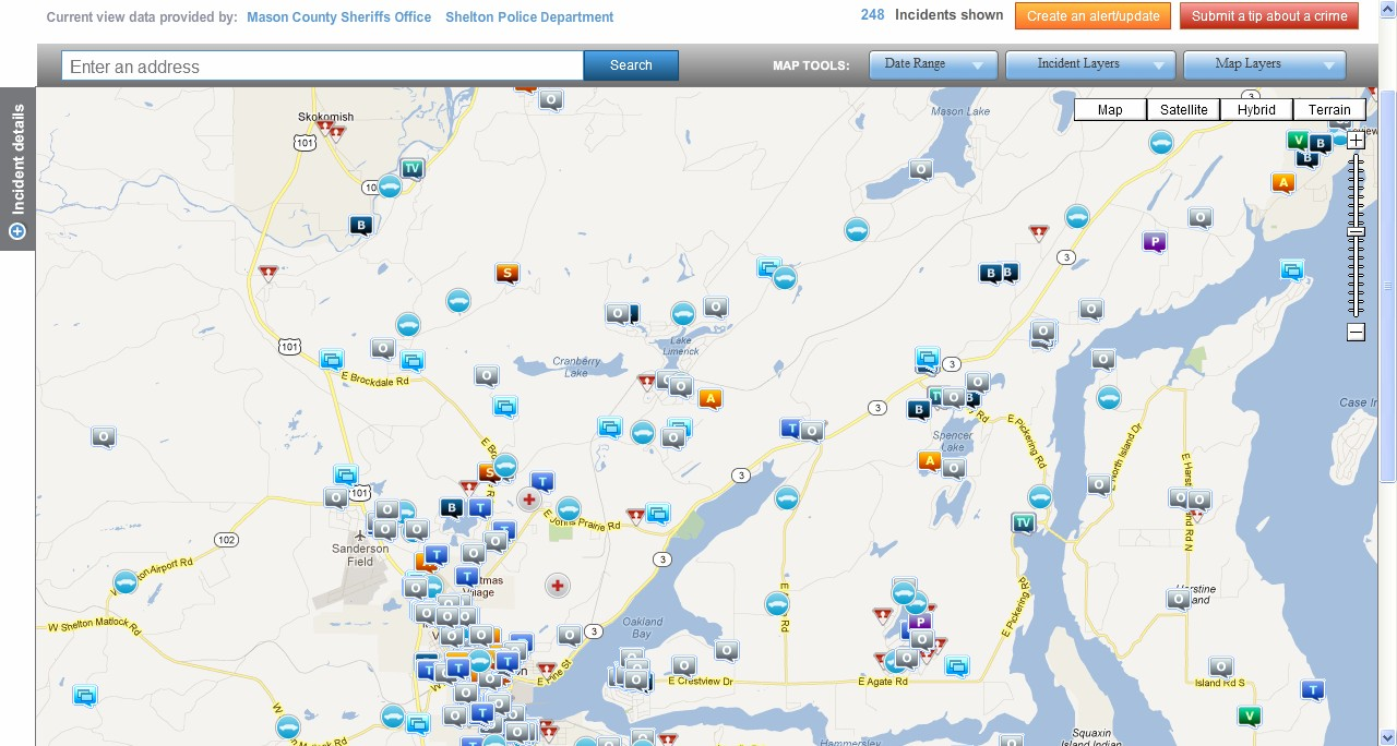 Online Crime Maps Now Available MasonWebTVcom - Most up to date maps