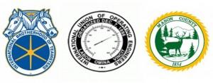 labor unions county logos