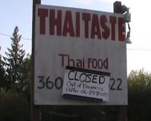 thai taste closed