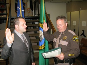 swear in Dep J Roberts by Sheriff Salisbury 8-25-14