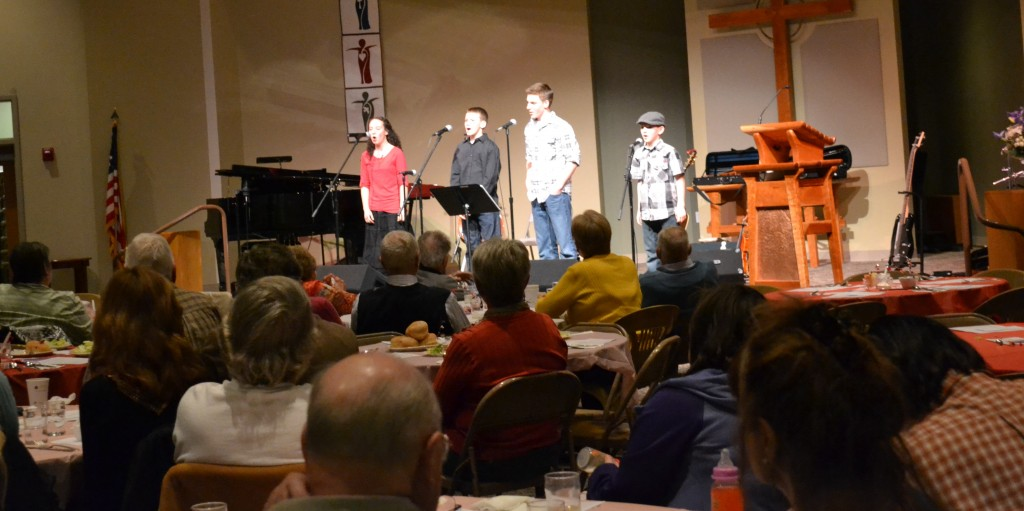 The Crichton Family Band entertains a crowd of 200+ people during the 2014 Soup & Song event.