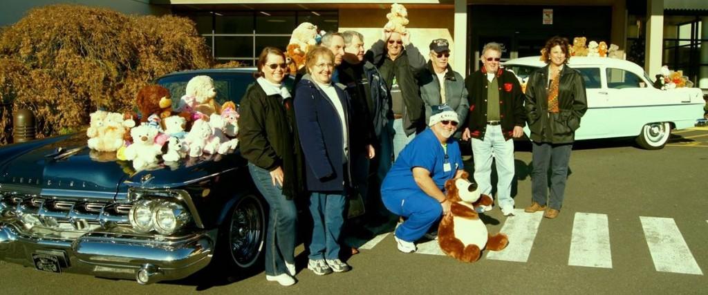 yesteryear car club MGH donation
