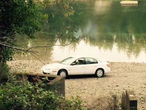 Mason County Sheriff's Office picture of car after pulled from water