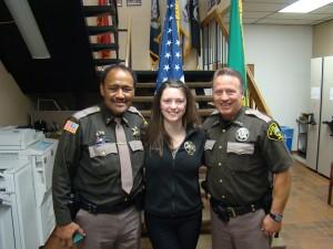Deputy Matia Rankin with her father Thurman Rankin and Sheriff Salisbury
