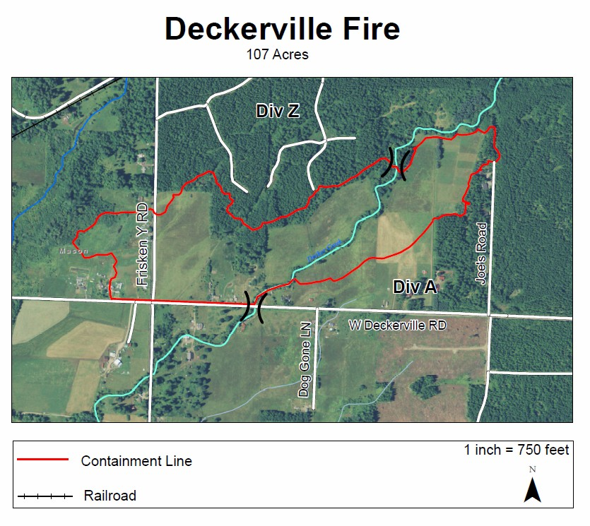 Deckerville fire map 080315