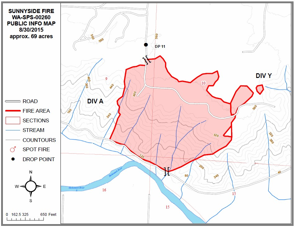 sunnyside fire map 083015