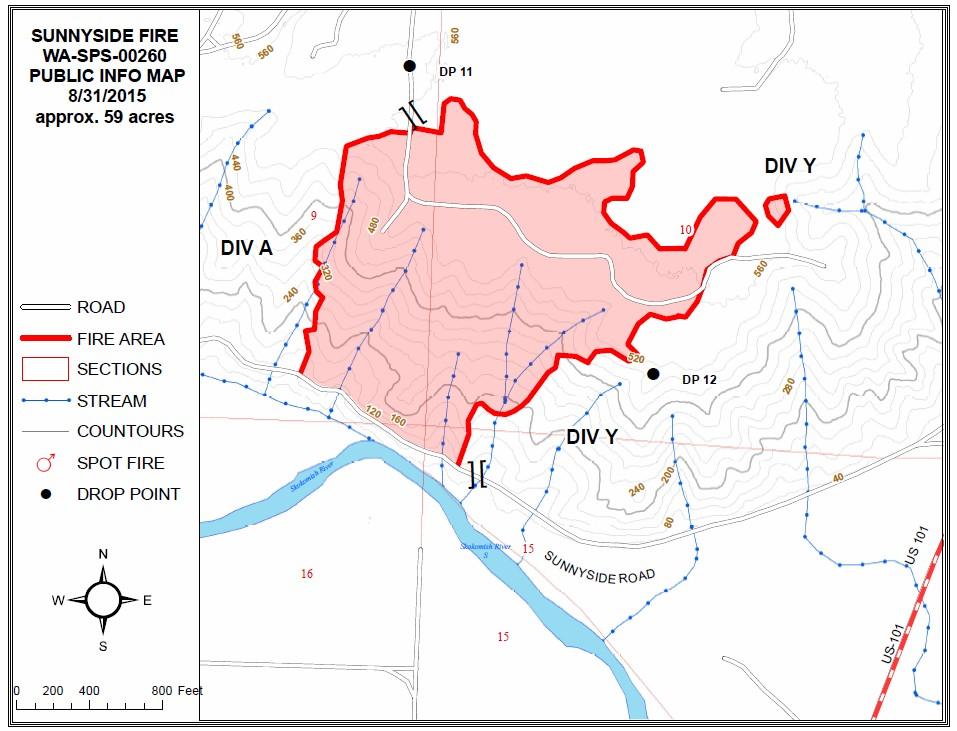 sunnyside fire map 083115
