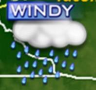 wind & rain icon