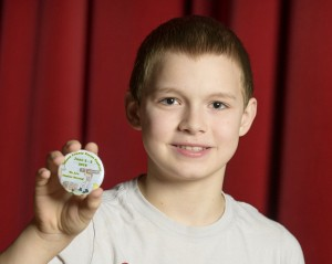 Bradley Eleton, winner of the button design contest for the 2016 Forest Festival