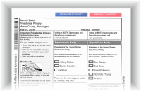 2016 prez prime sample ballot